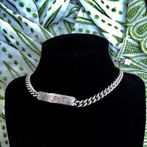 KARL LAGERFELD Vintage iconic logo fan necklace